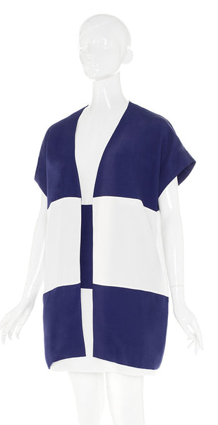 The Buzz - Navy & White - TWO PIECE - 80s Shift, 60s Vibe