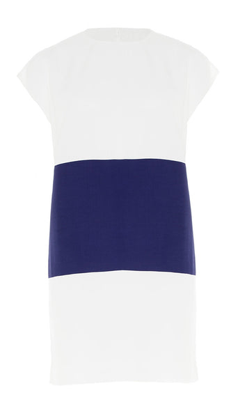 The Buzz - Navy & White - DRESS - 80s Shift, 60s Vibe