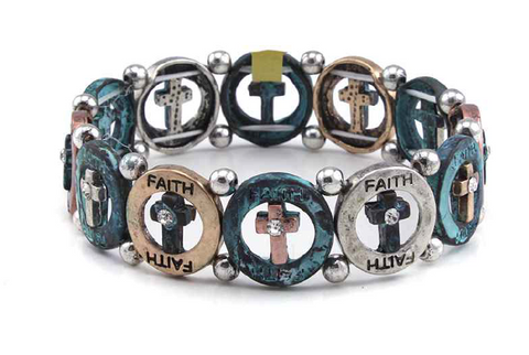 Cross-Faith Stretch Bracelet