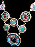 Circle Necklace-prl-grn