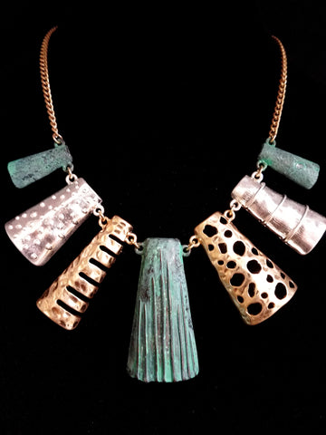 Design Tri-Tone Patina Necklace