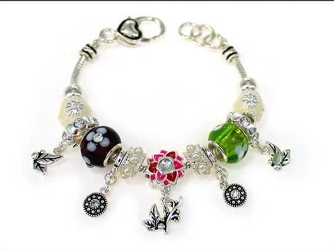 Flower Multi Bead Bracelet