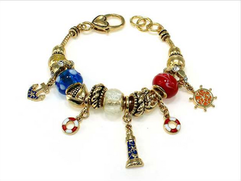Nautical Multi Bead Bracelet