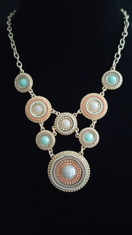 Multi Circle Necklace Crm-Aqa