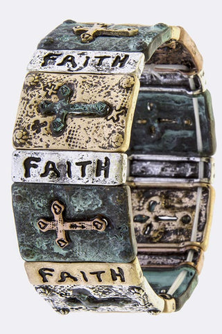 Cross Faith Stretch Bracelet-B155