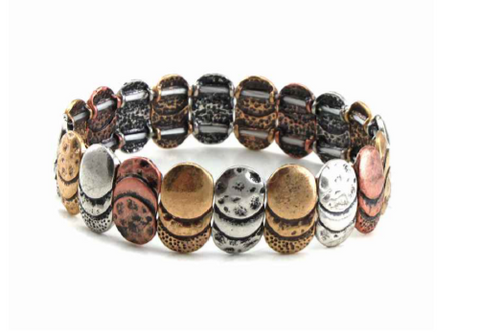 Oval Design Stretch Bracelet