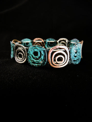 Spiral Circles Stretch Bracelet
