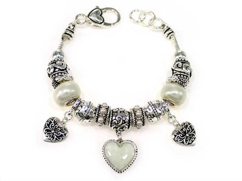 Heart Multi Bead Bracelet