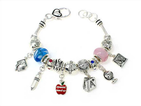 School Theme Multi Bead Bracelet