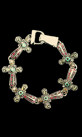 Cross Themed Bracelet- Multi Color