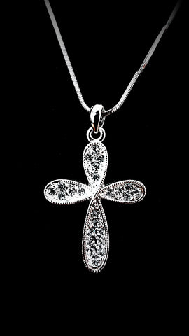 Cross with Crystals Necklace