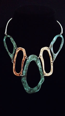 Flinstone Patina Necklace