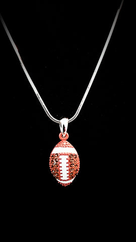 Football Crystal Necklace