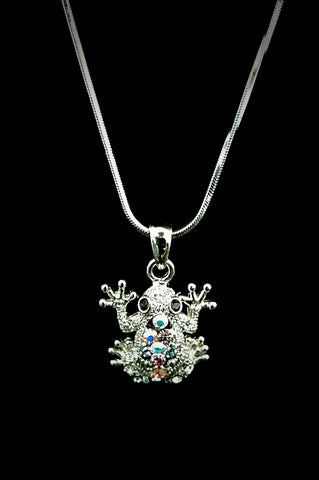 Frog Crystal Necklace