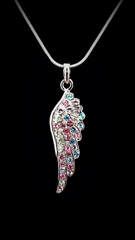 Multi Color Wing Crystal Necklace