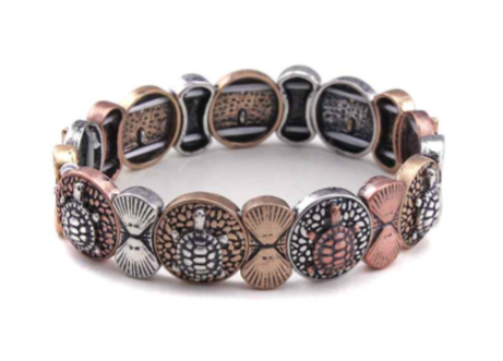 Sealife Turtle Stretch Bracelet