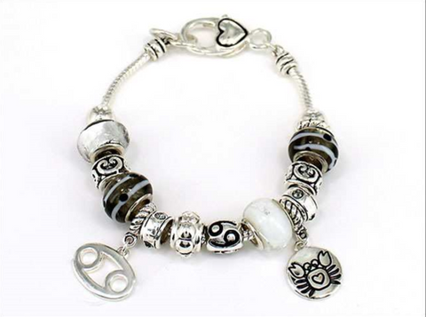 "Zodiac ""Cancer"" Multi Bead Bracelet"