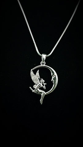Fairy and The Moon Crystal Necklace