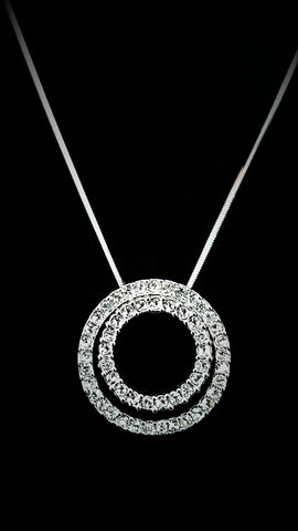Two Circles Crystal Necklace