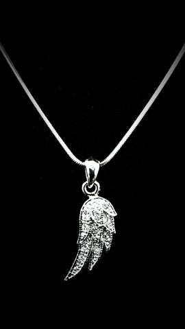 Wing Crystal Necklace-MDM