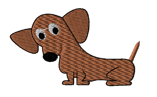 Dachshund Embroidery Design 2