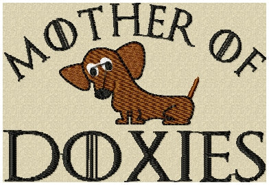 MOTHER OF DOXIES EMBROIDERY DESIGN