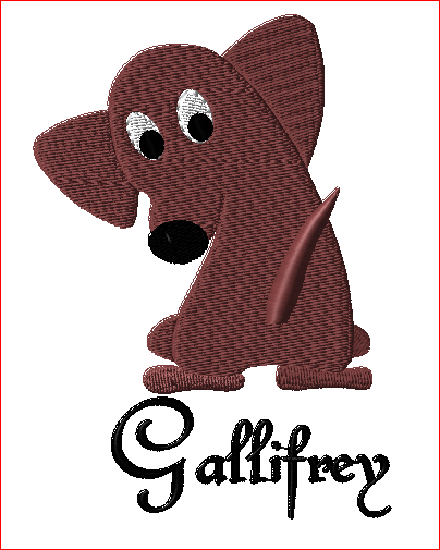 Dachshund Embroidery Design 1