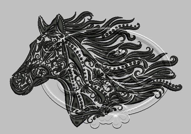 Horse Embroidery Design by SueB Designs