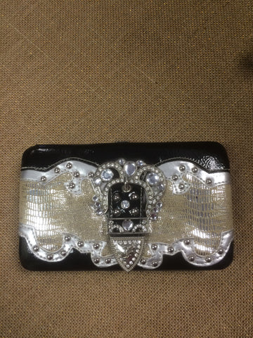 Black and Silver Bling Wallet