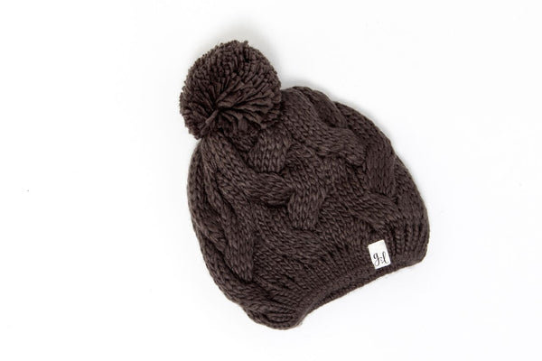 Grace & Lace Knit Cap with PomPom