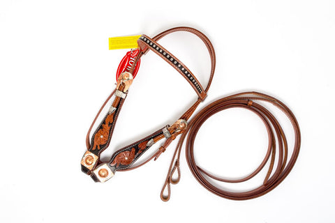 Leather Head Stall Set