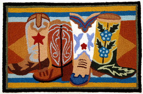 Western Boots Rug