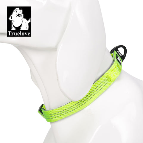 neon yellow lightweight truelove dog collar