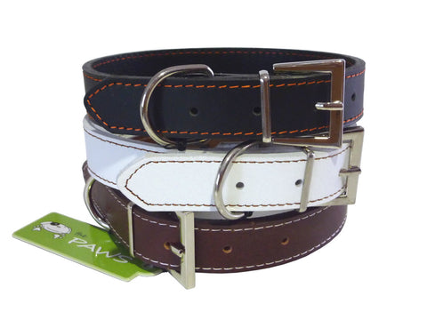 leather dog collar range the paws top grain