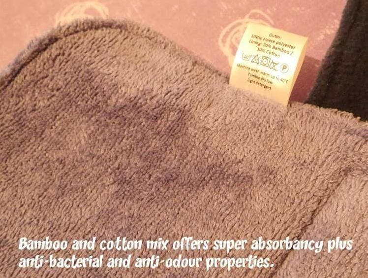bamboo and cotton mix for great absorbancy