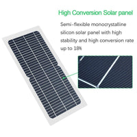 BOGUANG 18V 10w solar panel kit Transparent semi-flexible Monocrystalline solar cell DIY module outdoor connector DC 12v charger - 54 Energy - Renewable Energy Store