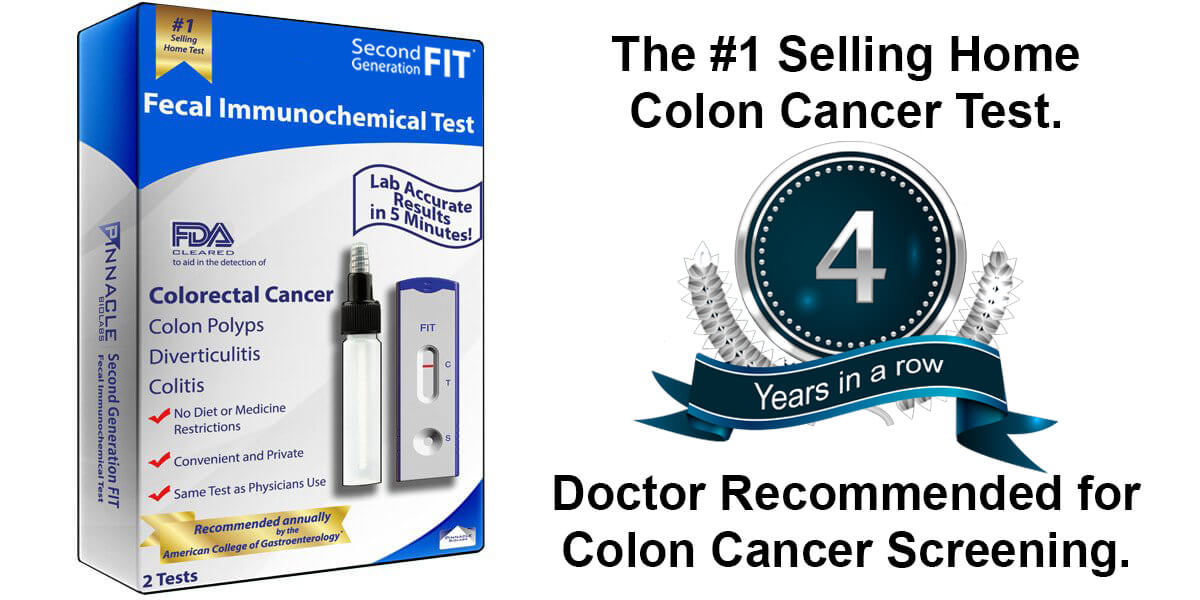 Fecal immunochemical colon cancer test