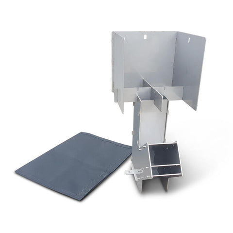 SLOT ME IN™ AUSSIE ROCKET STOVE SS™ COMBO KIT STAINLESS STEEL