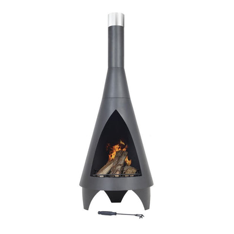 Colorado Chiminea - 1.6m - Black