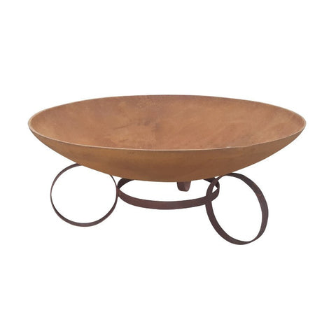78cm Cast Iron Fire Pit with Large Rings Base