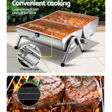 Portable Foldable Outdoor Camping Stainless Steel Barbeque Smoker