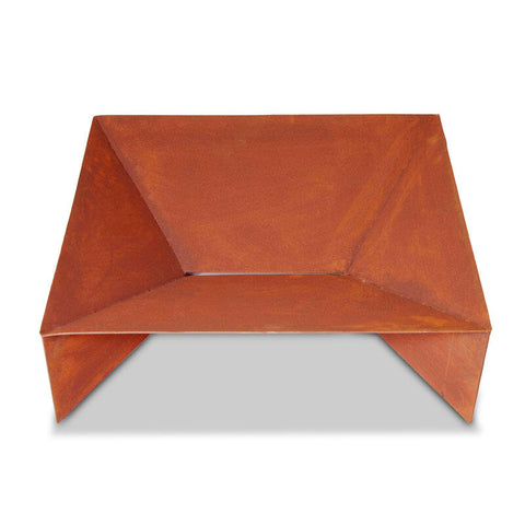 The Fuji Steel Fire Pit & Ashtray - Square - 70cm - Rust