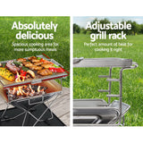 Camping Portable Folding Stainless Steel Fire Pit BBQ incl. carry bag