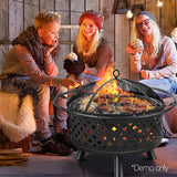 Portable BBQ Fire Pit 75cm Black