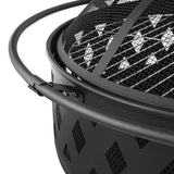Portable BBQ Fire Pit 80cm Black