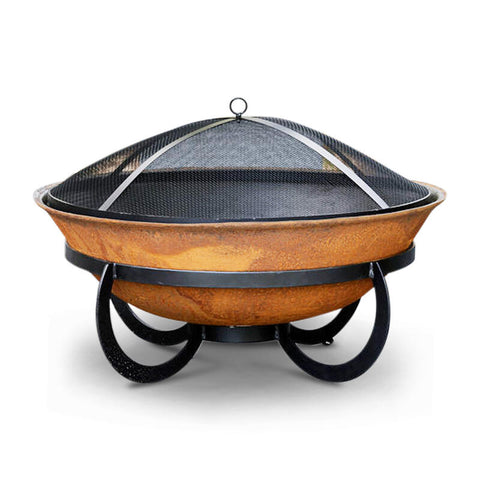 Da Vinci Cast Iron Fire Pit 75cm & Ember Screen Bundle
