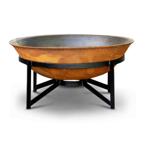Da Vinci 75 Cast Iron Fire Pit Rust Fire Pits Direct