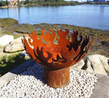 Flame Dancer Fire Pit - Cast Iron - 80cm dia - Rust