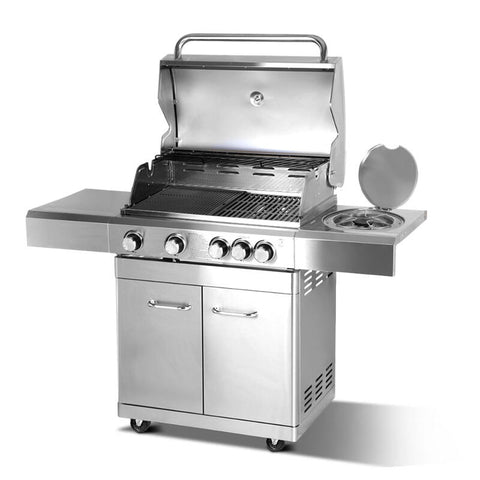 Stainless Steel 5 Burner Gas BBQ Grill 1.5m