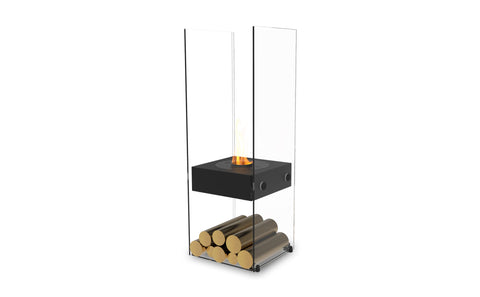 Ghost All Black Ethanol Burner Designer Fireplace